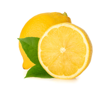 lemon slice: Lemon isolated