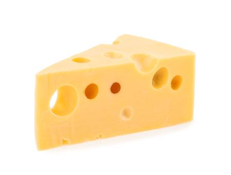 stuk kaas geïsoleerd