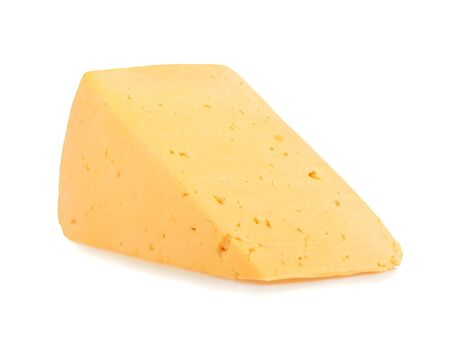 edam: piece of cheese isolated Stock Photo