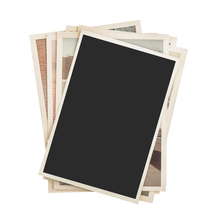Stack of photos isolated Stockfoto