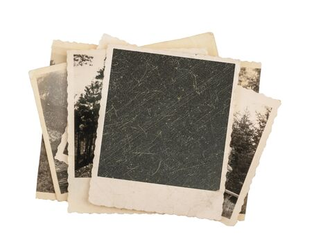 photo paper: Blank vintage photo paper isolated