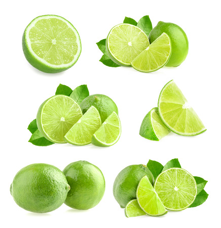 lime slice: Lime isolated