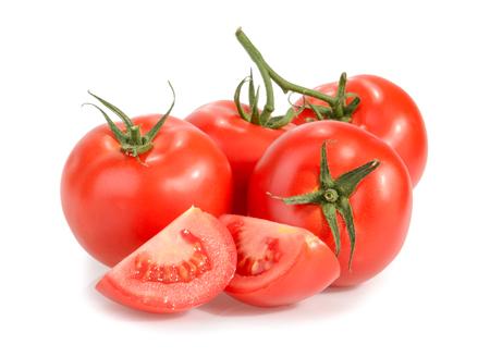 토마토는 흰색에 고립