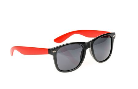 ray ban: Sunglasses isolated against a white background.