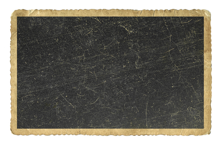 vintage photo: Blank vintage photo paper isolated