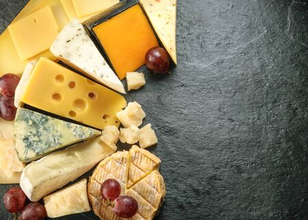 chees: Various types of cheese with empty space background. all images of this series see my portfolio