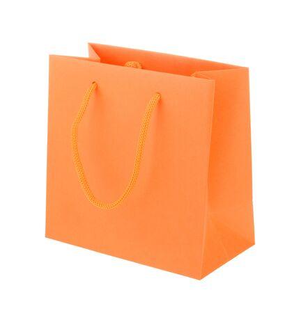 paper bag: Orange paper shopping bag
