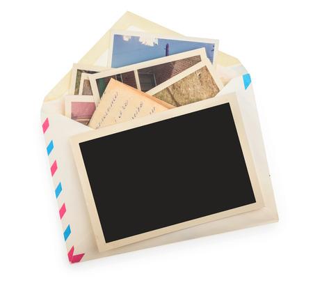 cartas antiguas: Pila de fotos aislado