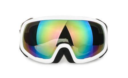 ski-bril op wit wordt geïsoleerd