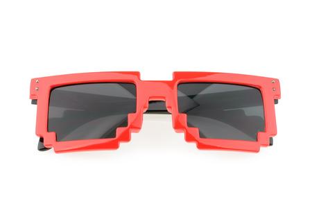 wayfarer: Pixel glasses isolated on white