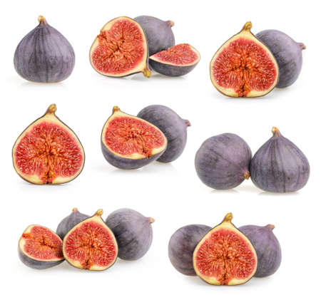 purple fig: figs isolated