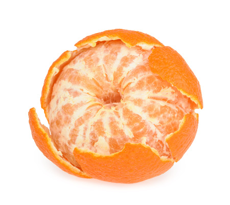 vitamin rich: Tangerine isolated on white background Stock Photo