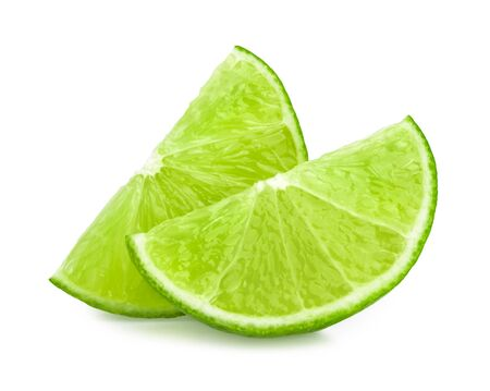 lemon slice: lime slice isolated Stock Photo