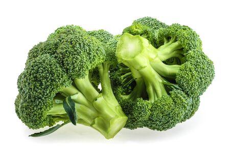 Verse broccoli die op witte achtergrond worden geïsoleerd