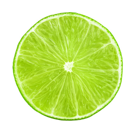 lime slice isolated 写真素材