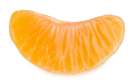 Tangerine slice isolated on white background