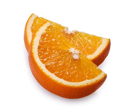 Orange fruit slice white background clipping path