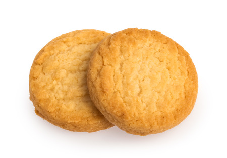 Biscotti isolati su sfondo bianco