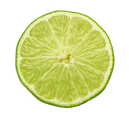 lime slice isolated without shadow Imagens