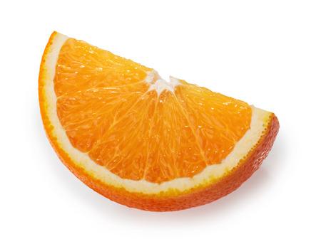 Orange fruit white background clipping path