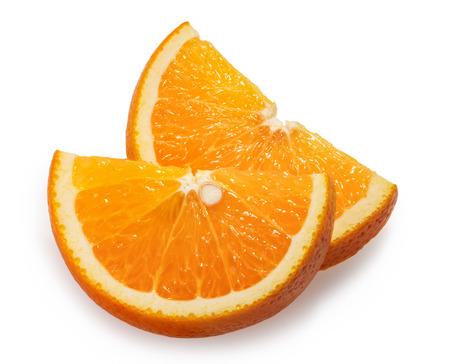 Orange fruit slices white background Reklamní fotografie
