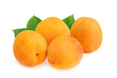 Apricots isolated on white background Reklamní fotografie
