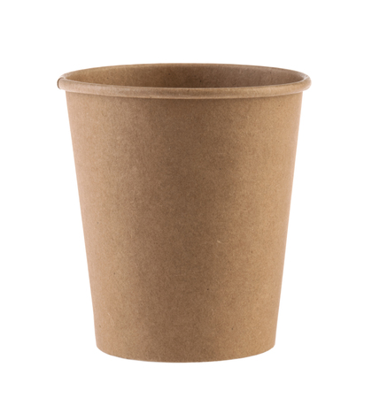 disposable empty cup isolated. Clipping path - Image Reklamní fotografie