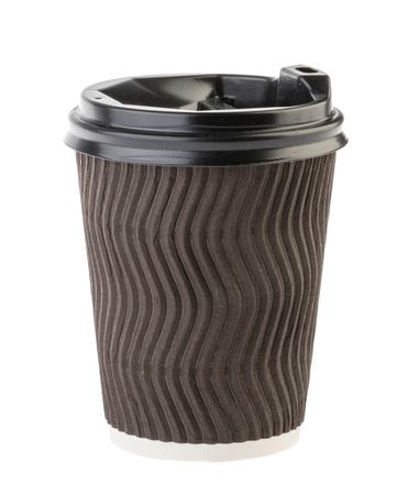 disposable empty cup isolated without shadow. Clipping path - Image Reklamní fotografie