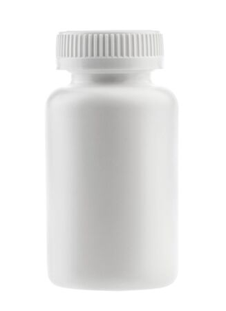 medicine white pill bottle isolated without shadow clipping path - photography Stockfoto