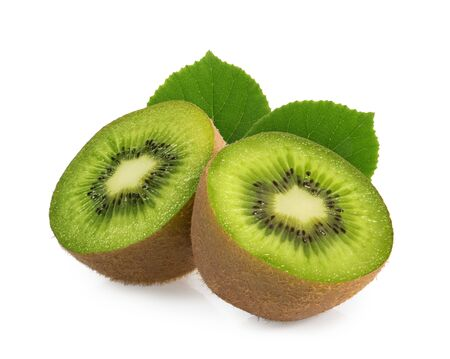 kiwi fruits isolated on white background Stockfoto