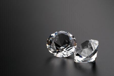 diamonds on black background copyspace