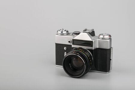 Old film camera. Vintage photo concept