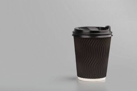 disposable empty white paper cup