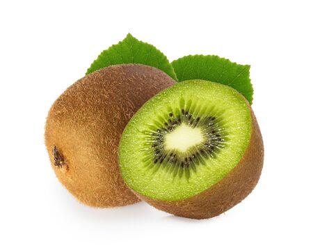 kiwi fruit isolated on white background Stockfoto