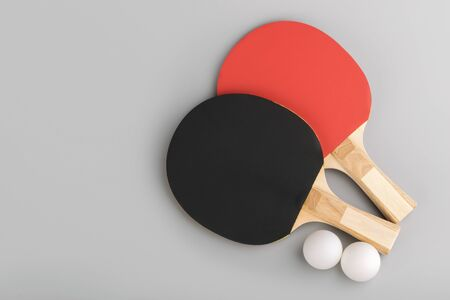 table tennis rackets. game concept