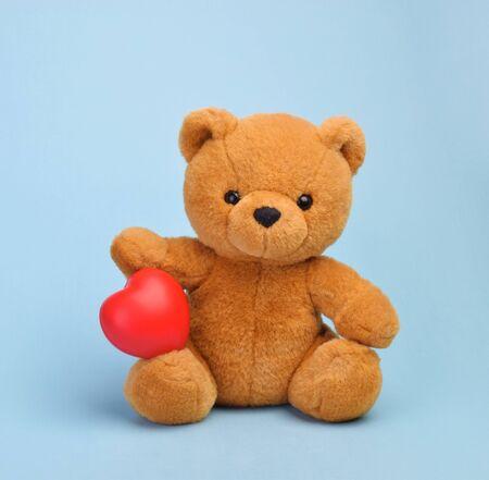 Teddy bear with heart love concept Stock fotó