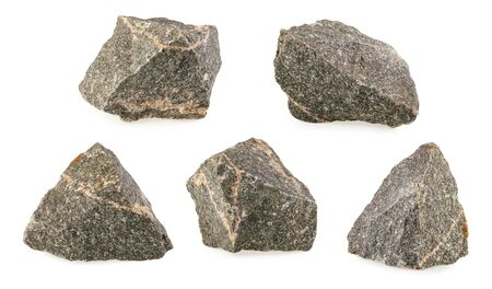 Granite stones, rocks isolated on white background Stock fotó