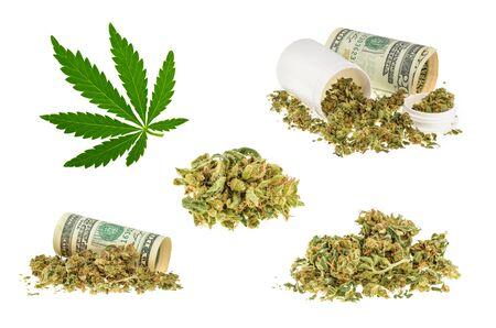 Marijuana isolated on white background