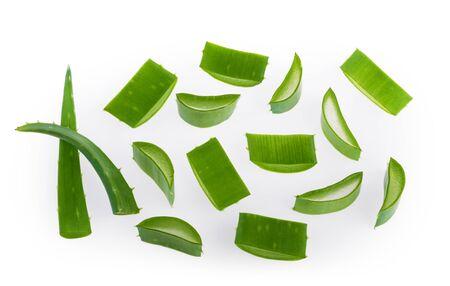 Aloe vera sliced plant isolated