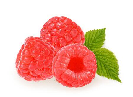 Raspberries isolated on white background Stock fotó