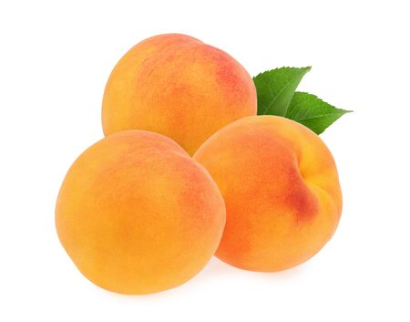 Peaches isolated on white background Stock fotó