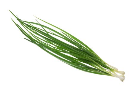 bunch green onions without shadow