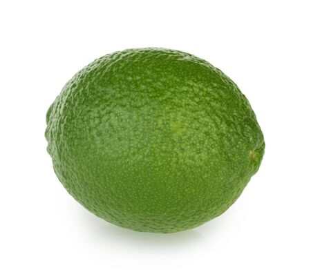 Lime isolated on white background clipping path Banque d'images