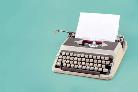 Vintage typewriter header with copy space