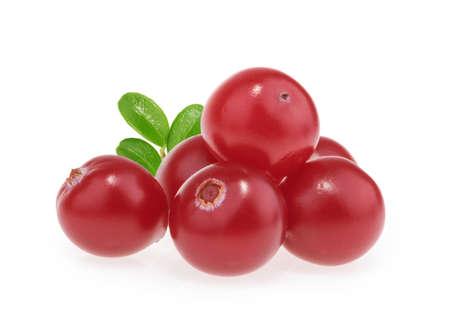 Cranberries isolated on white background Standard-Bild