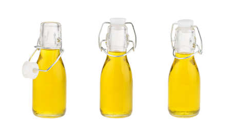 oil in glass bottle isolated without shadow Banque d'images