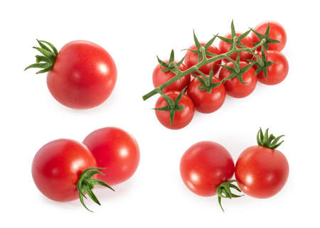 Cherry Tomatoes isolated on white background Banque d'images