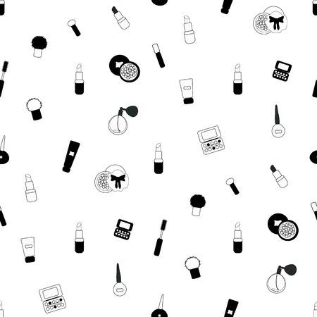 Black and white make up pattern. Illustration