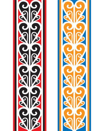 australasia: Maori banners Illustration
