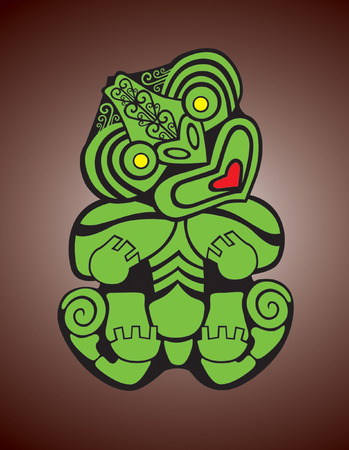 New Zealand Maori Tiki Stock Vector - 5545545